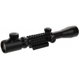 Lancer Tactical Airsoft 3-9x40mm Red/Green Illuminated Scope - BLACK