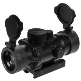 Lancer Tactical Airsoft Mini 3.5x30mm RGB Sight - BLACK