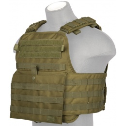 Lancer Tactical 1000D Nylon Airsoft Modular Tactical Vest (Olive Drab)