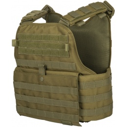 Lancer Tactical 1000D Nylon Airsoft Modular Plate Carrier - OLIVE DRAB