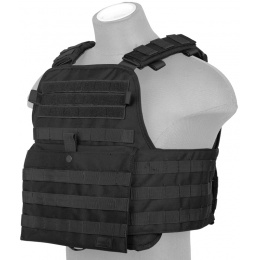 Lancer Tactical 1000D Nylon Airsoft Modular Tactical Vest (Black)