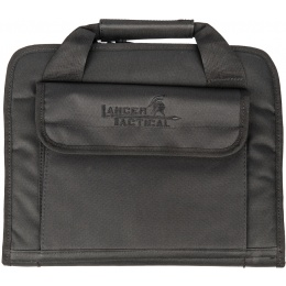 Lancer Tactical Polyester Portfolio Holster Bag - LARGE - BLACK