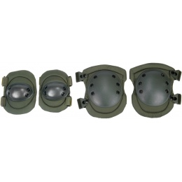 Lancer Tactical Airsoft Elbow/Knee Pad Protection Set - OD GREEN