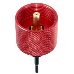 Lancer Tactical Airsoft Propane Adapter Valve - RED