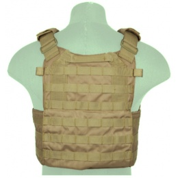 Lancer Tactical Airsoft Ballistic Plate Carrier - COYOTE BROWN