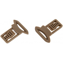 Lancer Tactical 15mm Goggle Swivel Clips - DARK EARTH
