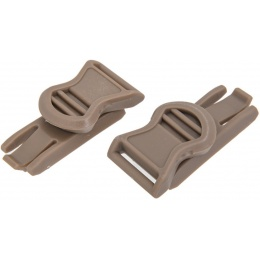 Lancer Tactical Airsoft 19mm Goggle Swivel Clips - DARK EARTH