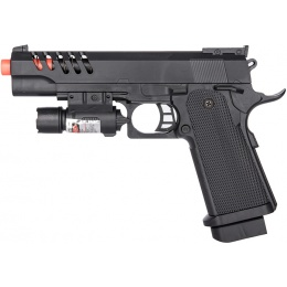UK Arms P2004B Spring Powered Skeletonized Airsoft Pistol w/ Laser