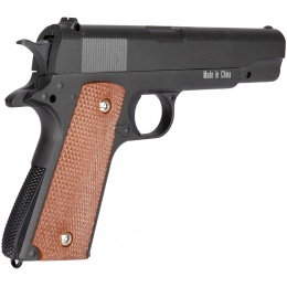 Galaxy G13H Metal Spring Airsoft 1911 Pistol w/ Holster - BLACK