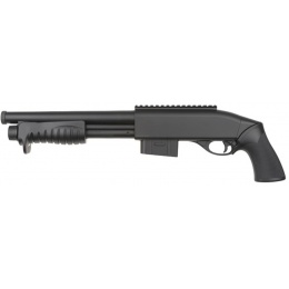 Double Eagle M401 Spring Pump Action Airsoft Shotgun - BLACK