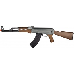 Lancer Tactical Airsoft Full Metal AK-47 AEG [w/ Battery & Charger] - BLACK/WOOD