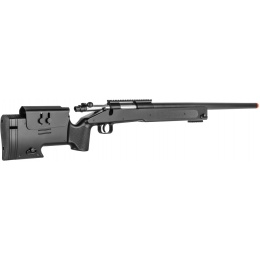 Double Eagle Airsoft M62 Bolt Action Sniper Rifle - BLACK