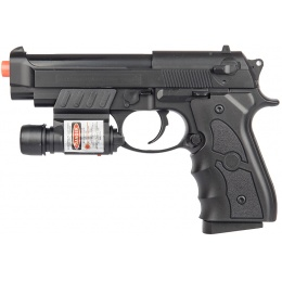 UK Arms G52R Airsoft Spring Powered Pistol w/ Laser - BLACK