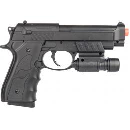 UK Arms G52R Airsoft Spring Powered Pistol w/ Laser - BLACK