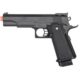 Galaxy M1911 Airsoft Metal Spring Pistol w/ Holster - BLACK