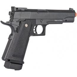 Galaxy M1911 Airsoft Metal Spring Pistol w/ Holster - BLACK