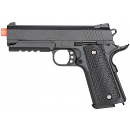 Galaxy G25H Airsoft Full Metal Spring Pistol w/ Holster - BLACK