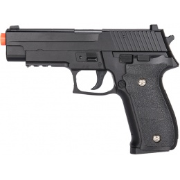 Galaxy G26H Airsoft Full Metal Spring Pistol w/ Holster - BLACK