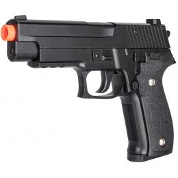 Galaxy G26H Airsoft Full Metal Spring Pistol w/ Holster - BLACK