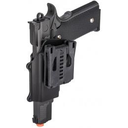 Galaxy P226 Airsoft Metal MilSlim Spring Pistol w/ Holster - BLACK
