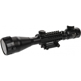 Lancer Tactical 4-12x50 EG Red & Green Scope w/ Picatinny Rail Mount