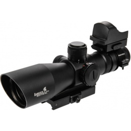 Lancer Tactical 3-9X Red & Green Long Range Scope w/ Red Dot Sight