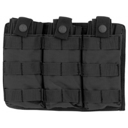 Lancer Tactical Airsoft Triple MOLLE M4 Magazine Pouch - BLACK
