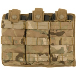 Lancer Tactical Triple MOLLE M4 Magazine Pouch - CAMO