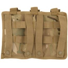 Lancer Tactical Triple MOLLE M4 Magazine Pouch - CAMO
