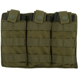 Lancer Tactical Triple MOLLE M4 Magazine Pouch - OLIVE DRAB