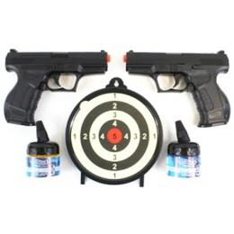Umarex Licensed Walther P99 2x Pistols w/ 2 Bottles of BBs + Target