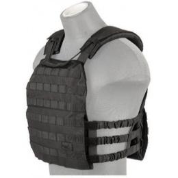 Lancer Tactical 600D Nylon Plate Carrier w/ Shoulder Straps - BLACK