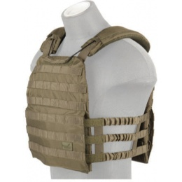 Lancer Tactical 600D Nylon Tactical Vest w/ Shoulder Straps (OD)