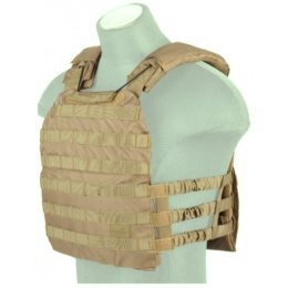 Lancer Tactical 600D Nylon Tactical Vest w/ Shoulder Straps (CB)