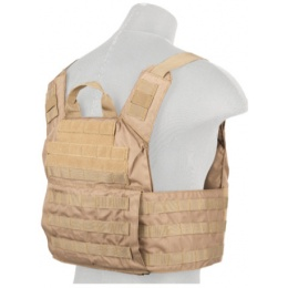 Lancer Tactical Nylon Speed Attack Plate Carrier - KHAKI