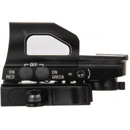 Lancer Tactical Airsoft 4 Reticle Reflex Sight w/ Button Control & QD BLACK