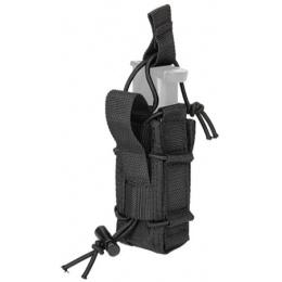 Lancer Tactical Single Pistol Magazine Pouch - BLACK