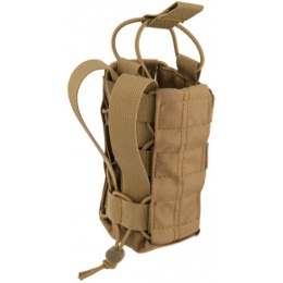 Lancer Tactical Airsoft Radio/Canteen Paracord Pouch - KHAKI