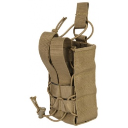 Lancer Tactical Airsoft Radio/Canteen Paracord Pouch - TAN