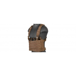 Lancer Tactical Chest Rig w/ Concealed Magazine Pouch - KHAKI
