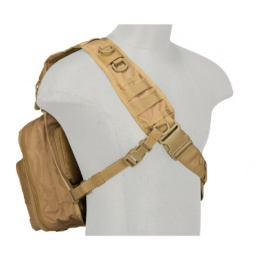 Lancer Tactical 600D Nylon Messenger Bag - COYOTE BROWN