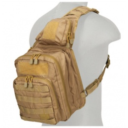 Lancer Tactical 600D Nylon Messenger Bag - COYOTE BROWN
