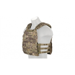 Lancer Tactical Nylon Tactical Vest w/ Shoulder Straps (Camo Tropic)