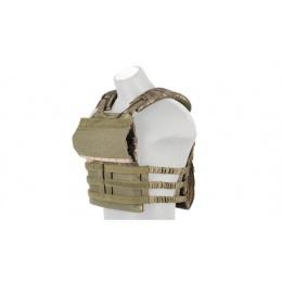 Lancer Tactical Nylon Plate Carrier w/ Shoulder Straps - CAMO TROPIC