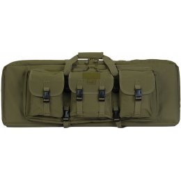 Lancer Tactical Double Gun Bag w/ Lockable Zipper - OD GREEN