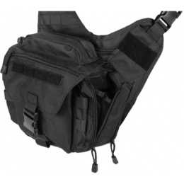 Lancer Tactical Airsoft Messenger Shoulder Bag - BLACK