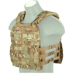 Lancer Tactical 600D Nylon Tactical Vest w/ Shoulder Straps (Camo)