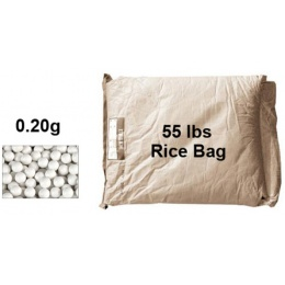 Lancer Tactical Airsoft 55 lbs Rice Bag 0.20g BBs - WHITE