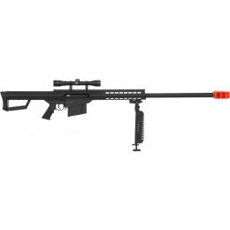 Lancer Tactical Airsoft M107 Spring Rifle w/ Bipod & Scope - BLACK
