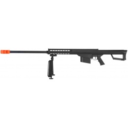 Lancer Tactical Airsoft M82 Spring Sniper Rifle w/ Bipod - BLACK